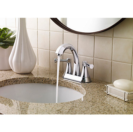 Polished Chrome Altavista Centerset Bath Faucet - LF-048-AVCC - 2