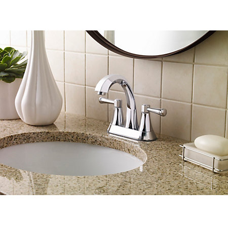 Polished Chrome Altavista Centerset Bath Faucet - LF-048-AVCC - 3