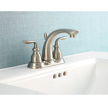 Brushed Nickel Avalon Centerset Bath Faucet - LF-048-CB0K - 2