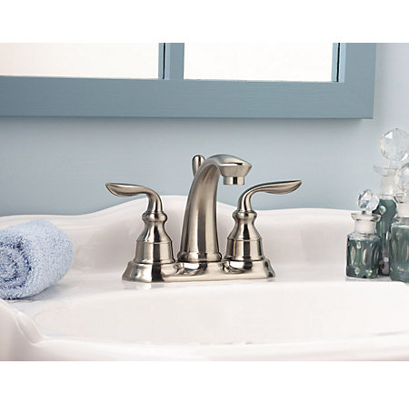 Brushed Nickel Avalon Centerset Bath Faucet - LF-048-CB0K - 4