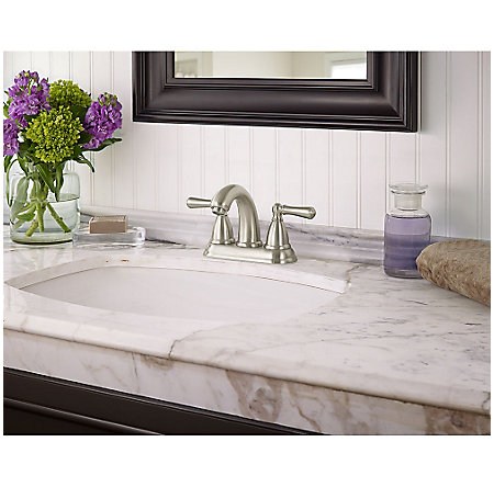 Brushed Nickel Canton Centerset Bath Faucet - LF-048-CNKK - 2