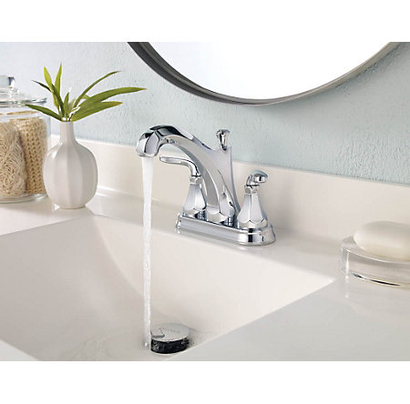 Polished Chrome Designer Centerset Bath Faucet - LF-048-DECC - 2