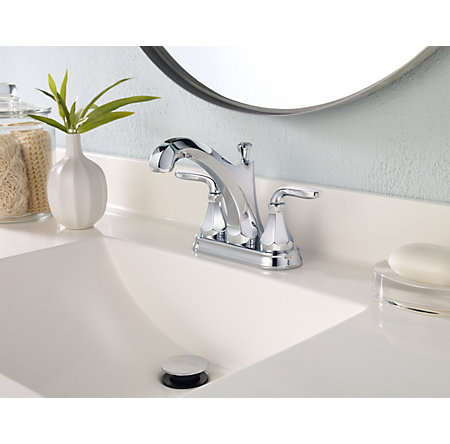 Polished Chrome Designer Centerset Bath Faucet - LF-048-DECC - 3