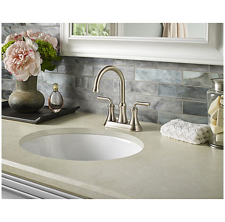 Brushed Nickel Declan Centerset Bath Faucet - LF-048-DNKK - 2