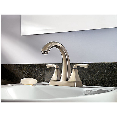 Brushed Nickel Selia Centerset Bath Faucet - LF-048-SLKK - 2