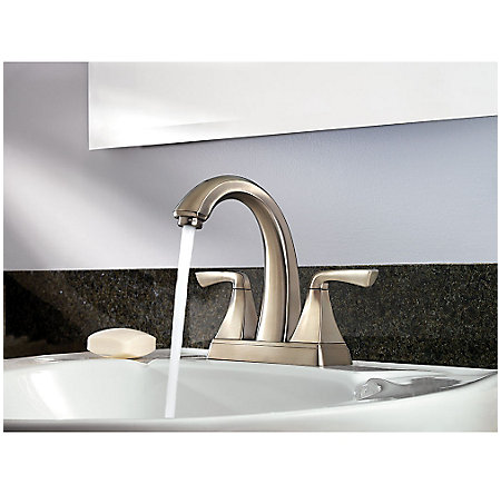Brushed Nickel Selia Centerset Bath Faucet - LF-048-SLKK - 3