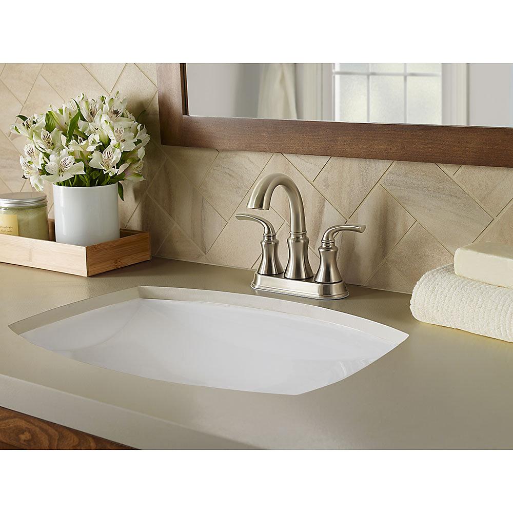 Brushed Nickel Solita Centerset Bath Faucet - LF-048-SOKK | Pfister ...