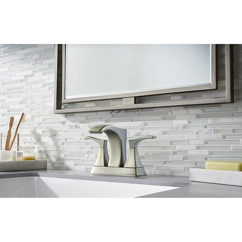 Brushed Nickel Venturi Centerset Bath Faucet - LF-048-VNKK | Pfister ...