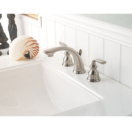 Brushed Nickel Avalon Widespread Bath Faucet - LF-049-CB0K - 3