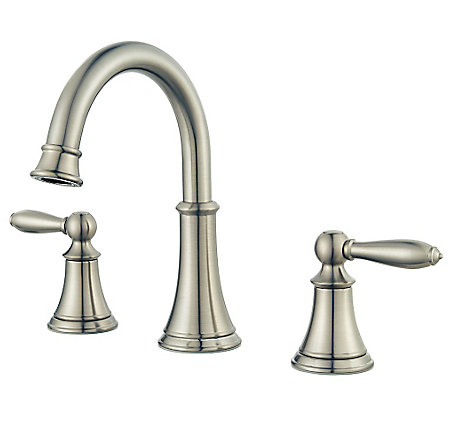 Brushed Nickel Courant Widespread Bath Faucet - LF-049-COKK - 1