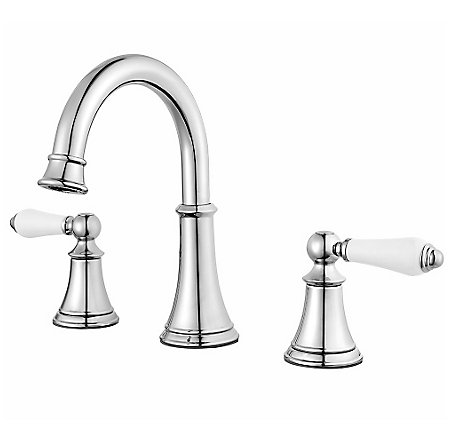 Polished Chrome Courant Widespread Bath Faucet - LF-049-COPC - 1