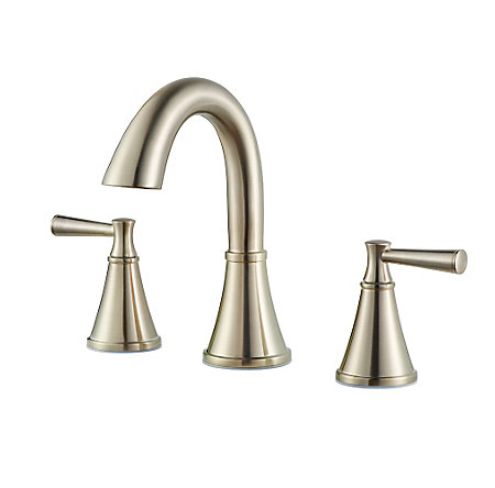 Brushed Nickel Cantara Widespread Faucet - LF-049-CRKK - 1