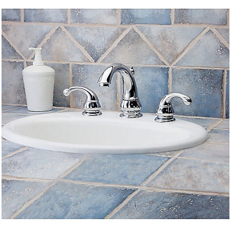 Polished Chrome Treviso Widespread Bath Faucet - LF-049-DC00 - 1