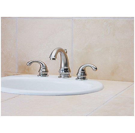 Brushed Nickel Treviso Widespread Bath Faucet - LF-049-DK00 - 2