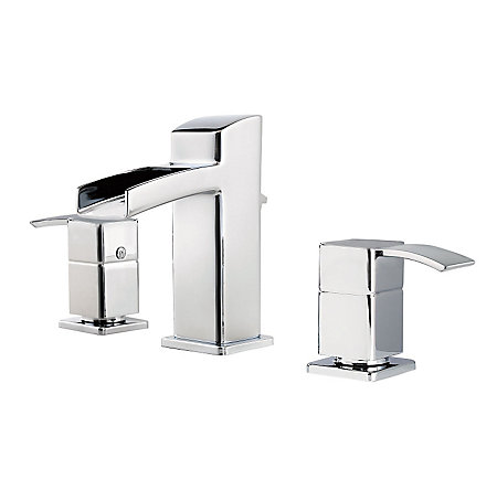 Polished Chrome Kamato Widespread Bath Faucet - F-049-MD0C - 1