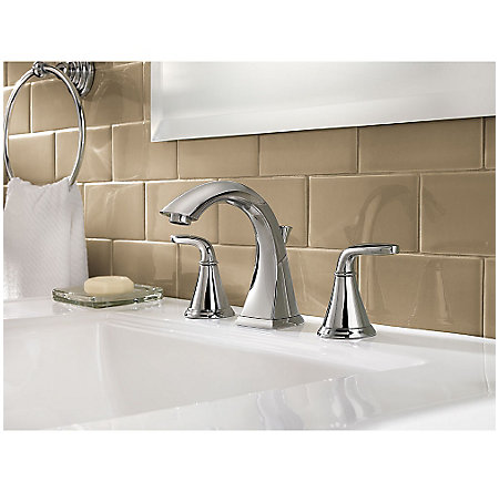 Polished Chrome Pasadena Widespread Bath Faucet - LF-049-PDCC - 2