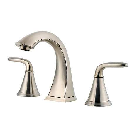 Charming Brushed Nickel Pasadena Widespread Bath Faucet   LF 049 PDKK   1
