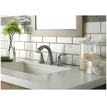 Slate Pasadena Widespread Bath Faucet Lf 049 Pdsl Pfister Faucets