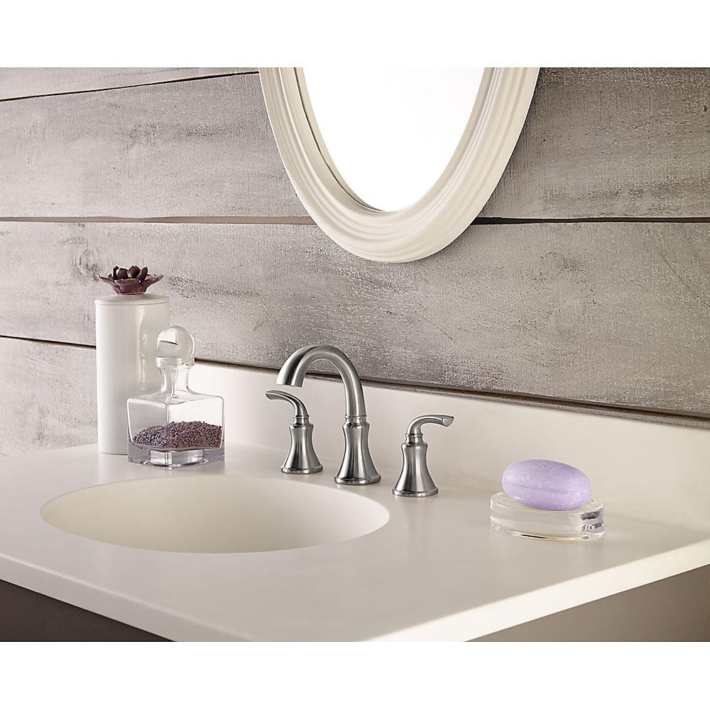 Brushed Nickel Solita Widespread Bath Faucet - LF-049-SOKK | Pfister ...