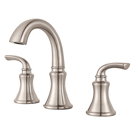 Brushed Nickel Solita Widespread Bath Faucet - LF-049-SOKK | Pfister ...