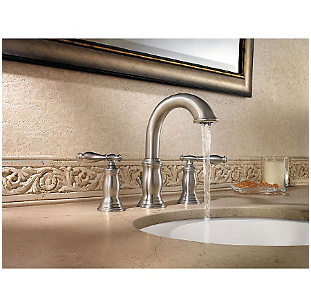 Brushed Nickel Hanover Widespread Bath Faucet - LF-049-TMKK - 3