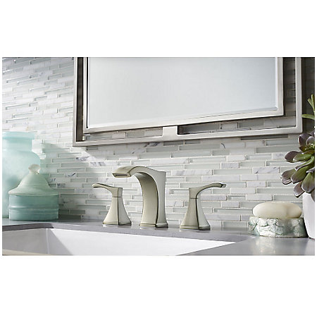 Brushed Nickel Venturi Widespread Bath Faucet - LF-049-VNKK - 2
