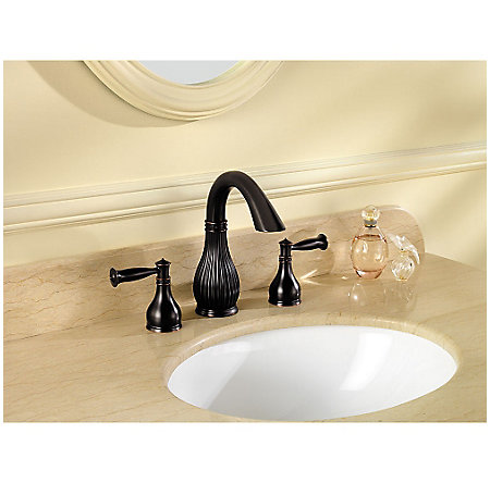 Tuscan Bronze Virtue Widespread Bath Faucet - LF-049-VTYY - 2