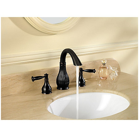 Tuscan Bronze Virtue Widespread Bath Faucet - LF-049-VTYY - 3