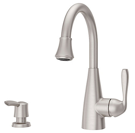 Spot Defense Stainless Steel Lima 1-Handle Bar and Prep Faucet - F-072-7LMGS - 1