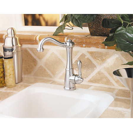 Stainless Steel Marielle 1-Handle Bar and Prep Faucet - LF-072-M1SS - 3