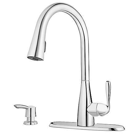 Polished Chrome Lima Pulldown Kitchen Faucet - F-529-6LMC - 2