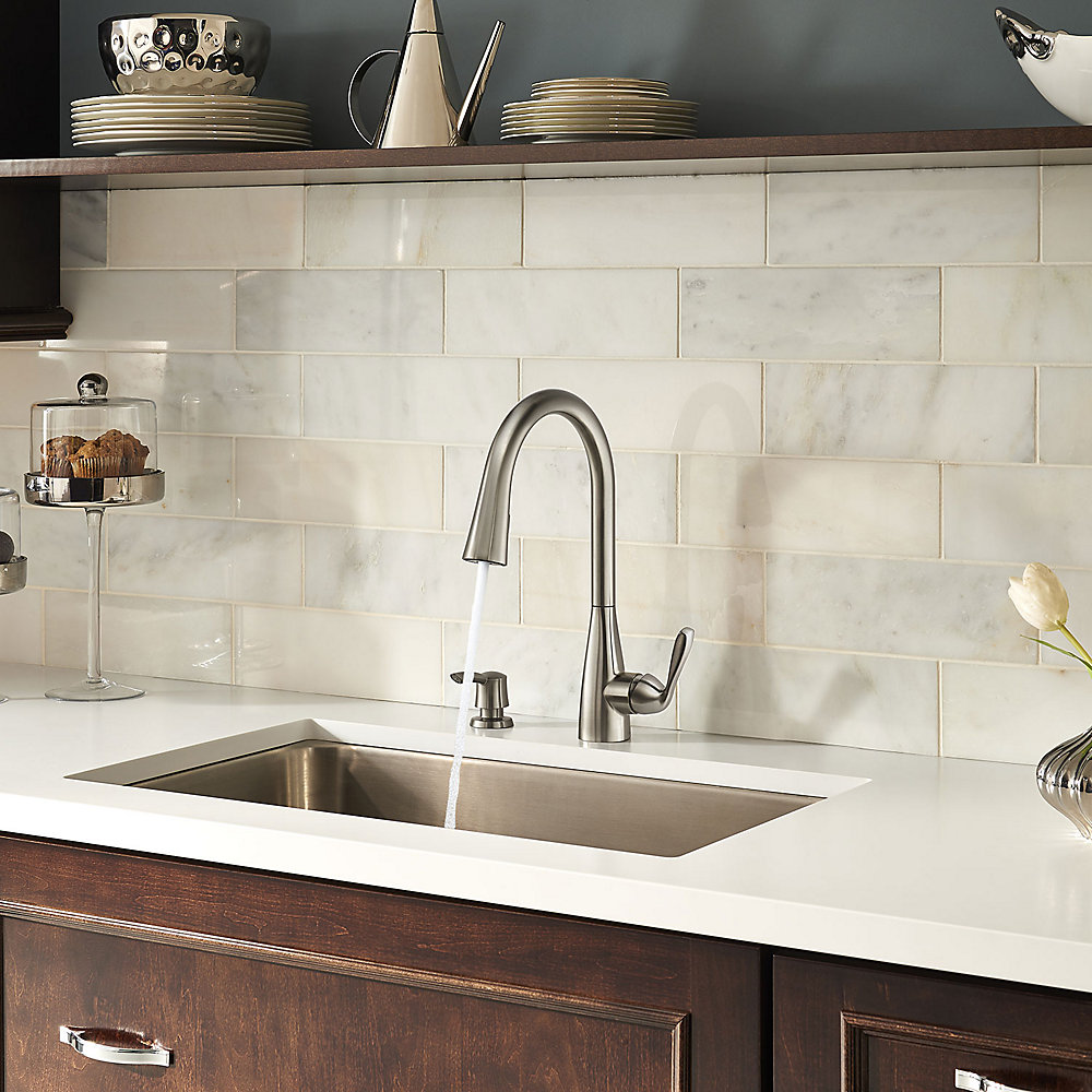 Stainless Steel Lima Pulldown Kitchen Faucet   F 529 6LMS   5