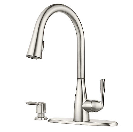 Stainless Steel Lima Pulldown Kitchen Faucet - F-529-6LMS - 2