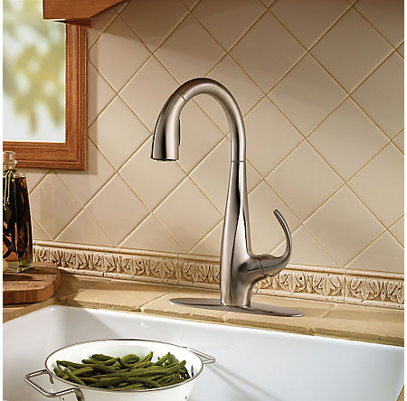 Stainless Steel Avanti 1-Handle, Pull-Down Kitchen Faucet - LF-529-7ANS - 3