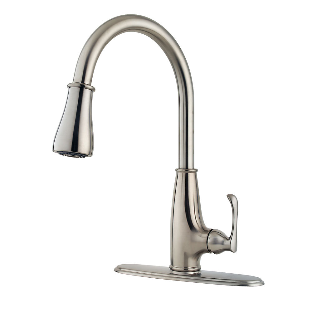 Stainless Steel Ainsley 1-Handle, Pull-Down Kitchen Faucet - LF-529 ...