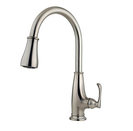 Stainless Steel Ainsley 1-Handle, Pull-Down Kitchen Faucet - LF-529-7AYS - 3