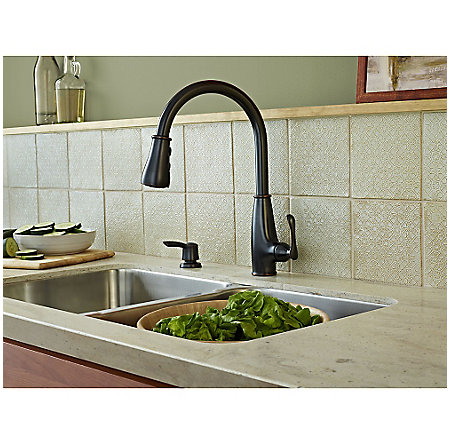 Tuscan Bronze Ainsley 1-Handle, Pull-Down Kitchen Faucet - LF-529-7AYY - 3