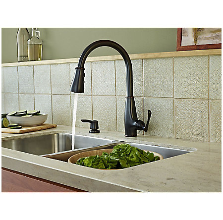 Tuscan Bronze Ainsley 1-Handle, Pull-Down Kitchen Faucet - LF-529-7AYY - 4