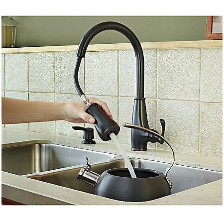 Tuscan Bronze Ainsley 1-Handle, Pull-Down Kitchen Faucet - LF-529-7AYY - 6