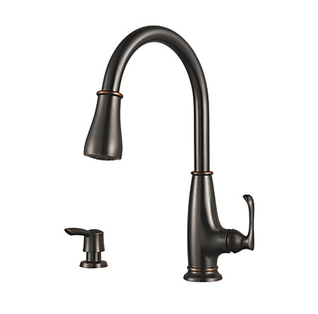 Tuscan Bronze Ainsley 1-Handle, Pull-Down Kitchen Faucet - LF-529-7AYY - 1