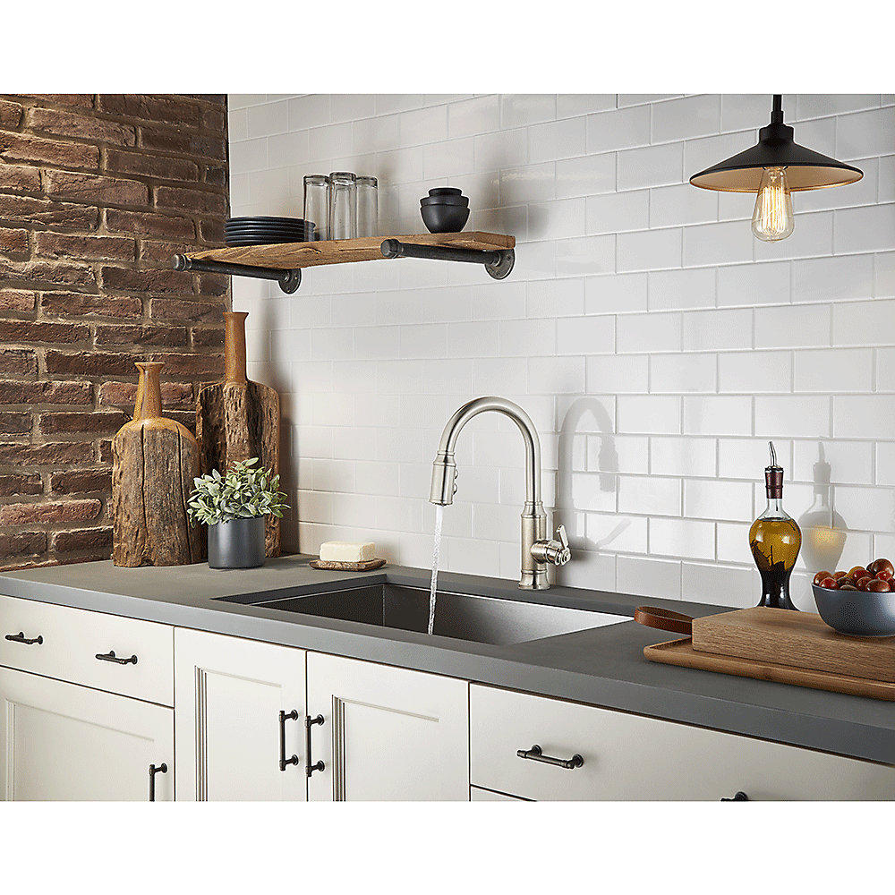 Stainless Steel Breckenridge Pull-Down Kitchen Faucet - F-529-7BCSE ...