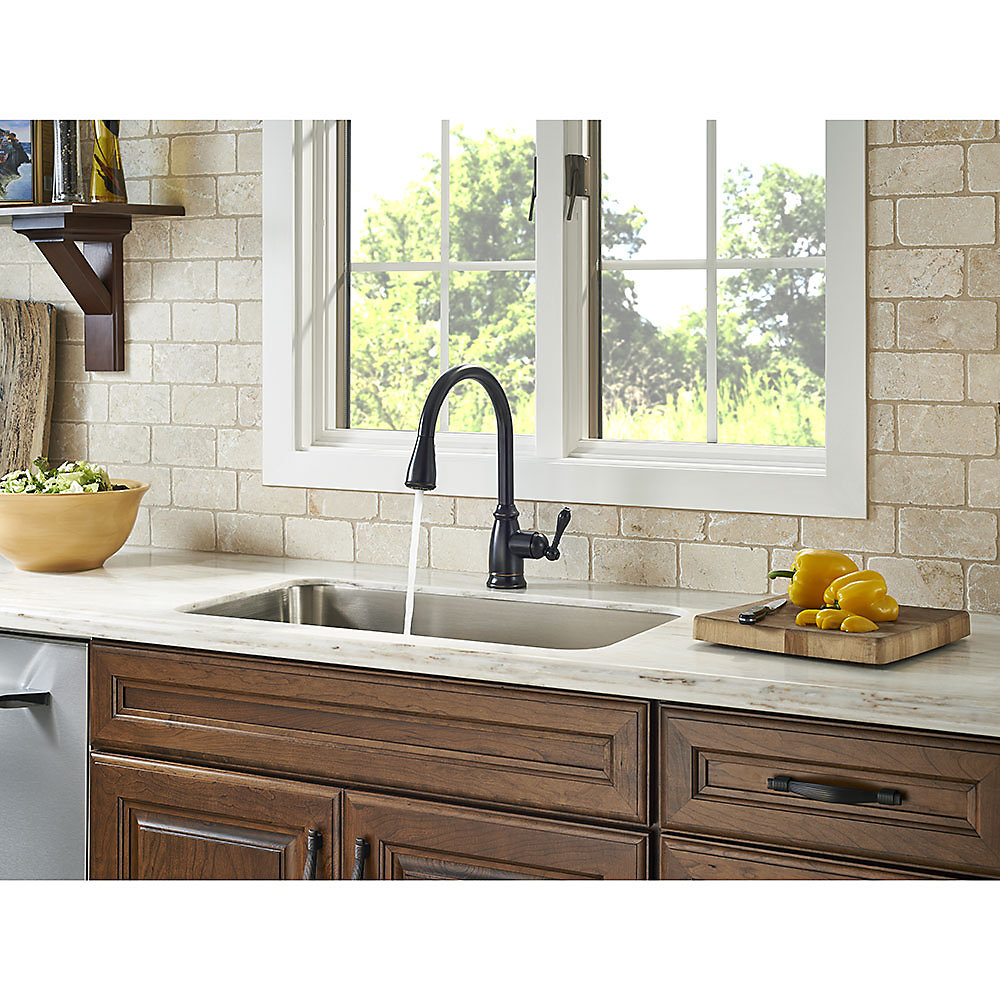 Tuscan Bronze Canton Pull-Down Kitchen Faucet - F-529-7CNY | Pfister ...