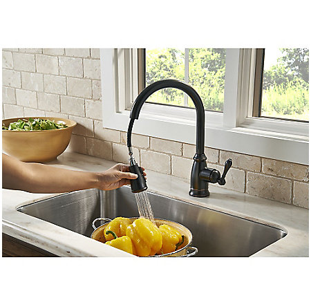 Tuscan Bronze Canton Pull-Down Kitchen Faucet - F-529-7CNY - 6