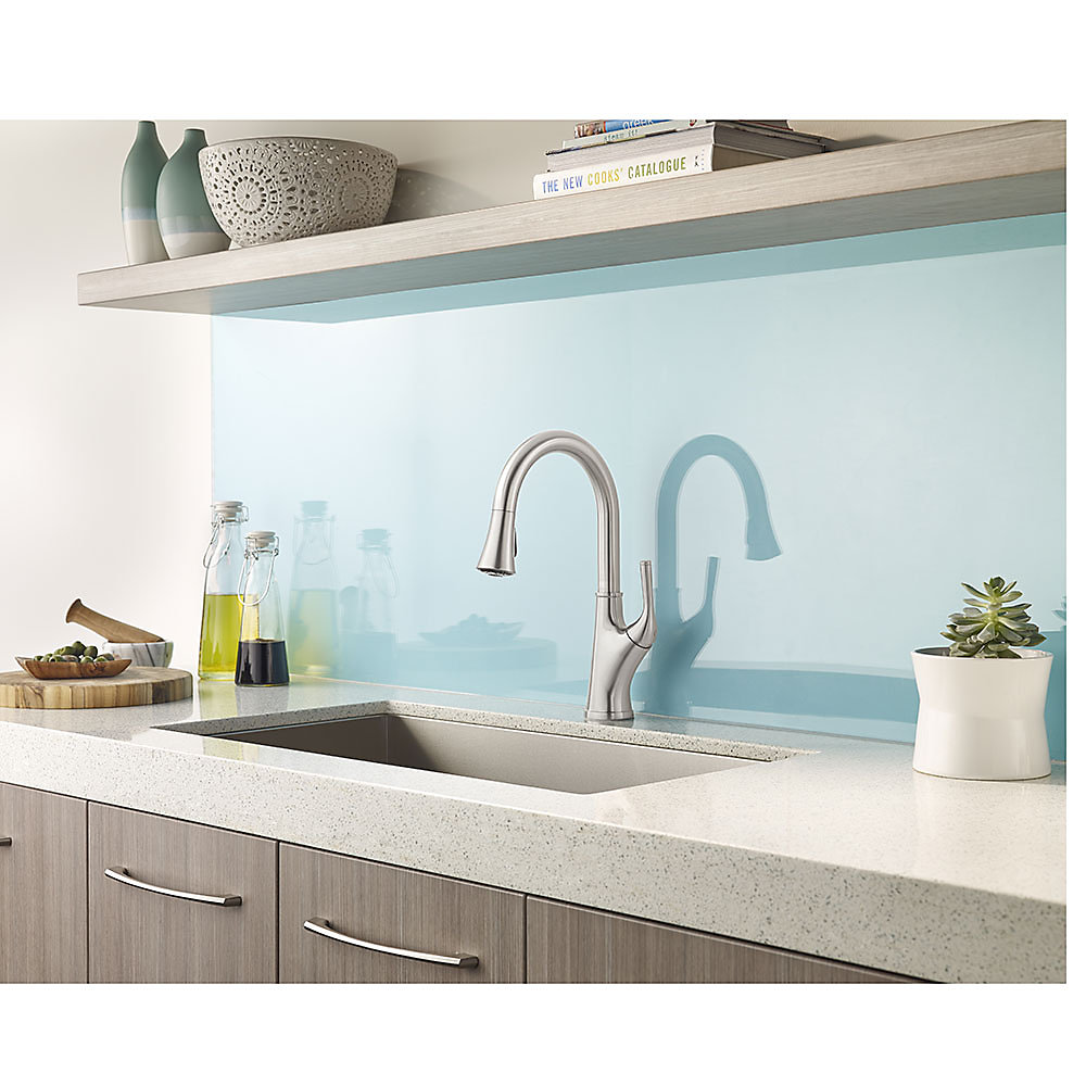 Stainless Steel Cantara 1-Handle Pull-Down Kitchen Faucet - F-529 ...