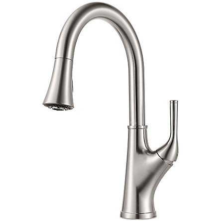 Stainless Steel Cantara 1-Handle Pull-Down Kitchen Faucet - F-529-7CRS - 1