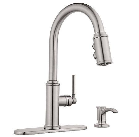 Stainless Steel Kedzie Pulldown Kitchen Faucet - F-529-7KZS ...