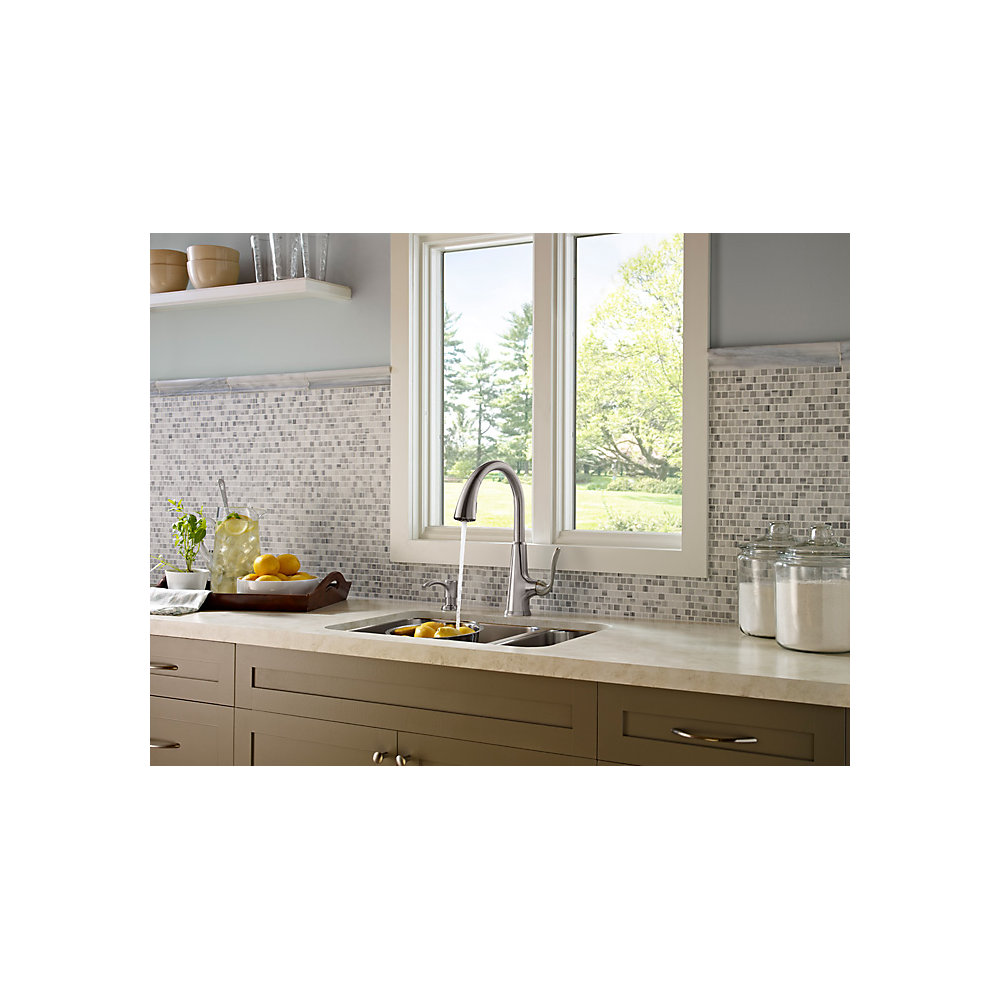 Stainless Steel Pasadena 1-Handle, Pull-Down Kitchen Faucet - F-529 ...