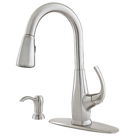 Stainless Steel Selia 1-Handle, Pull-Down Kitchen Faucet - F-529-7SLS - 2