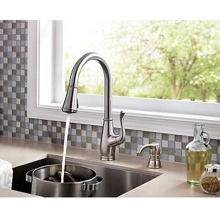 Stainless Steel Sedgwick 1-Handle, Pull-Down Kitchen Faucet - F-529-7SWS - 4
