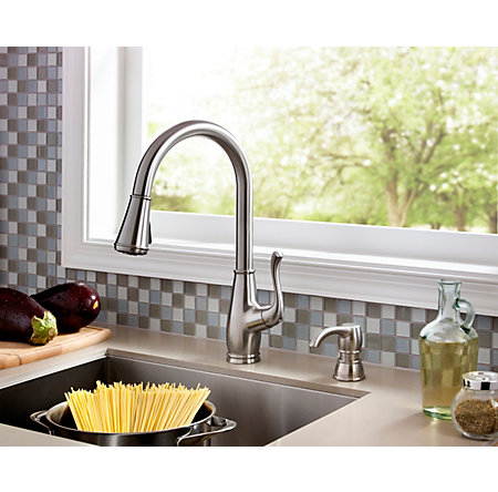 Stainless Steel Sedgwick 1-Handle, Pull-Down Kitchen Faucet - F-529-7SWS - 5